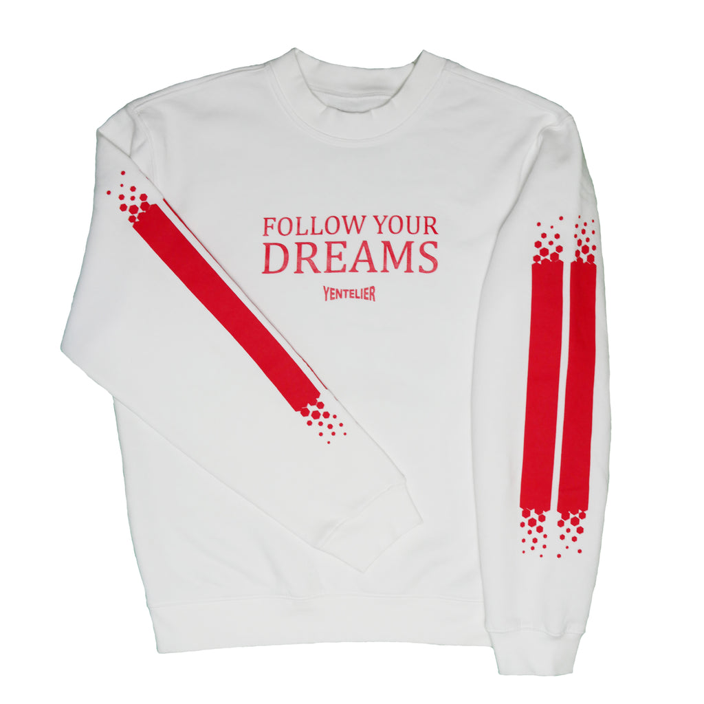 Follow Your Dreams Sweater - White