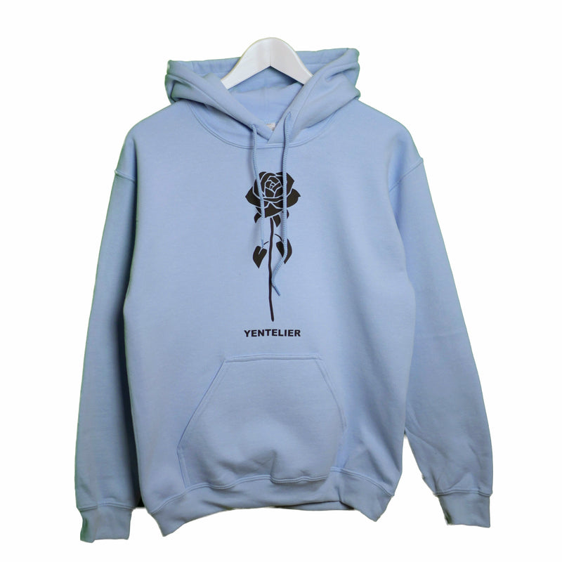 Rose Hoodie - Light Blue