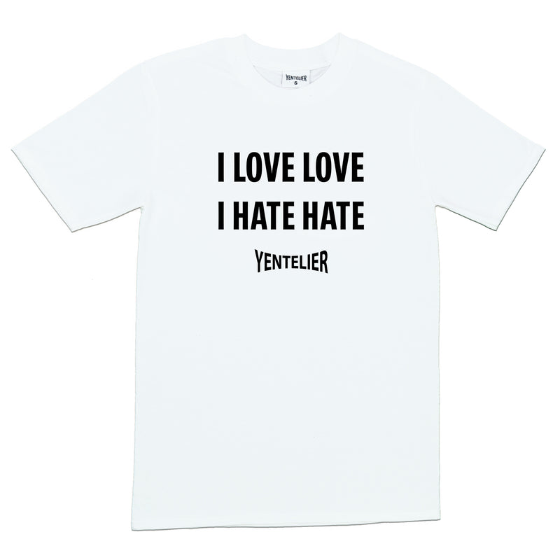 Love Love Hate Hate - T-Shirt - White