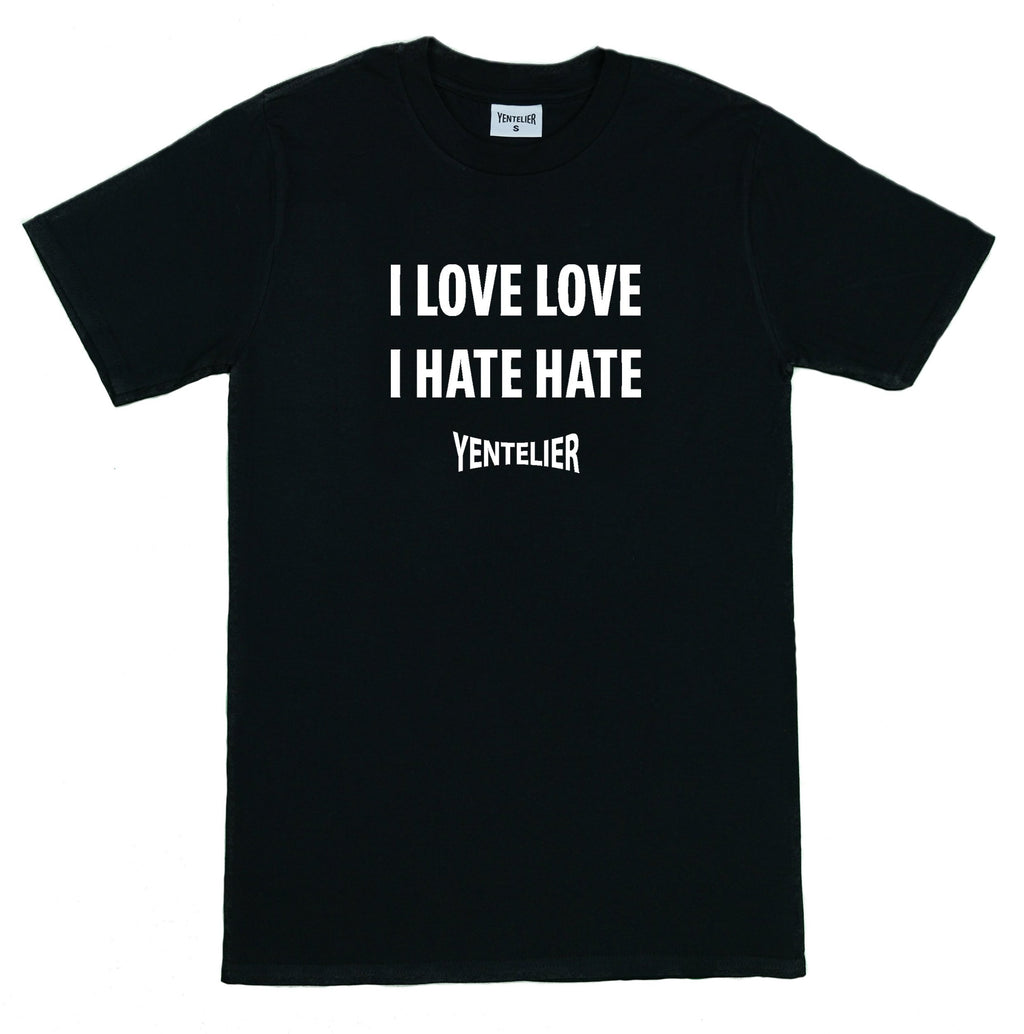 Love Love Hate Hate T-Shirt Black