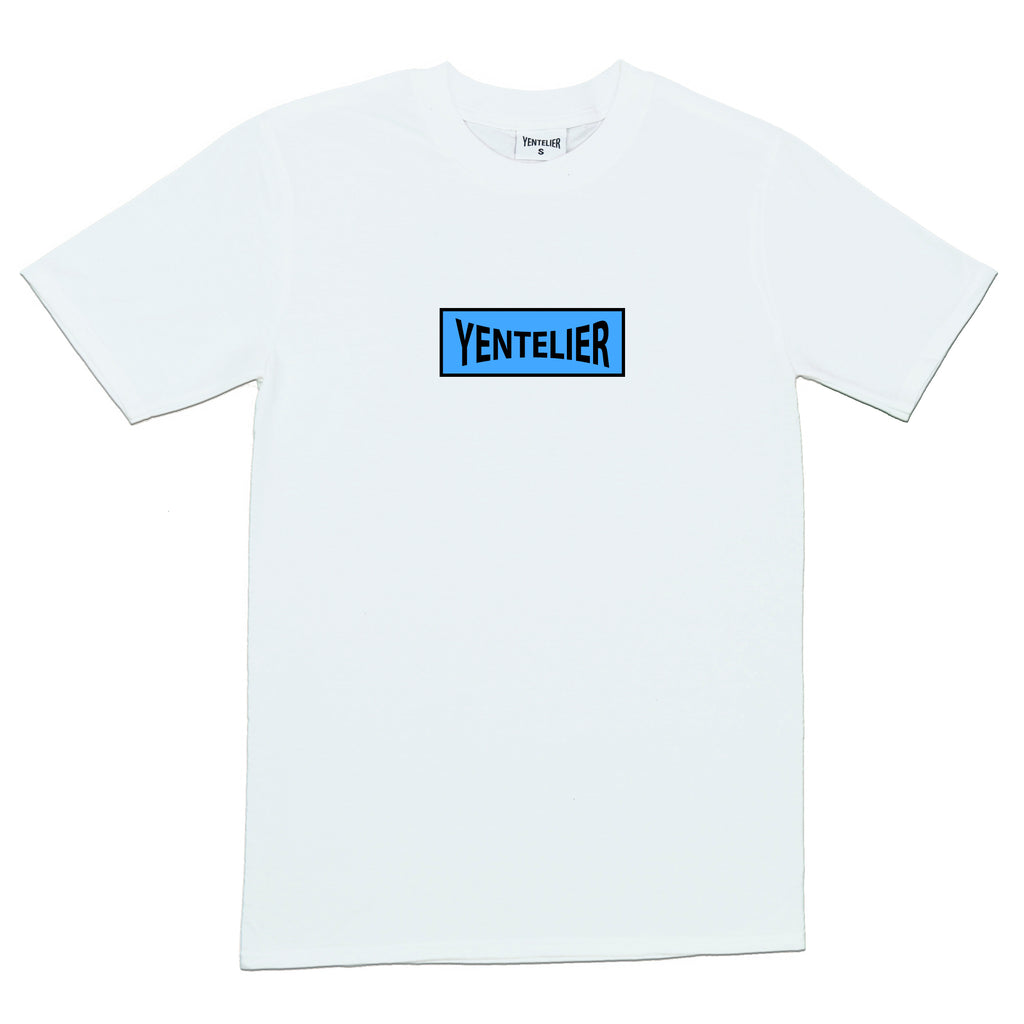 Blue Sunlight Box T-Shirt - White