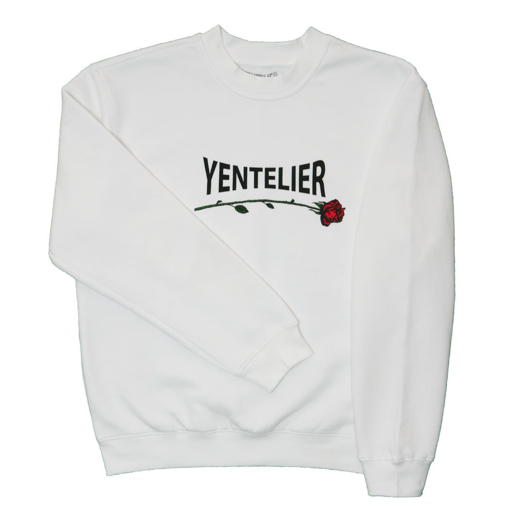 Yentelier Rose Sweater - White