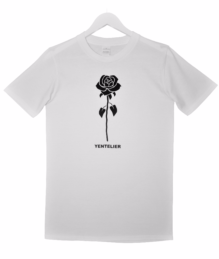 Rose T-Shirt - Weiß