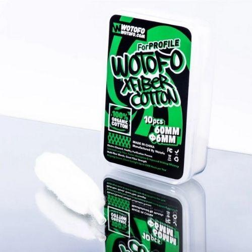 Wotofo Xfiber Cotton - 10 Pack - Juice Cartel