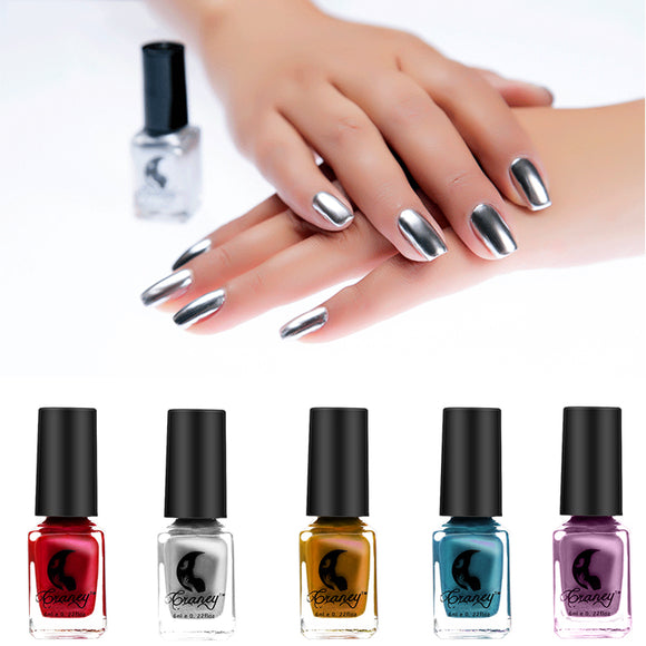 Mirror Nail Polish Silver Color 6 ML Long-Lasting Polish - MISTK