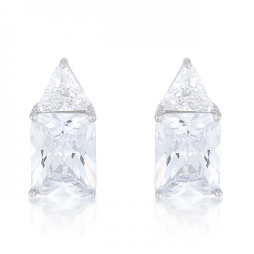 Classic Cubic Zirconia Sterling Silver Stud Earrings (pack of 1 ea)