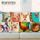 Nordic Fashion Throw Pillow Cushion Cover Home Decor Sofa Bed Cute Animal Printed Linen Square Cushion Cojines Almohadas - Awesome Amazing Deals For You