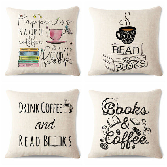 Summer Chair Decorative Watercolor Style Yarn Book Reading Sofa Decorative 45Cmx45Cm Square Sofa/Bed Printed Pillow Cover - Awesome Amazing Deals For You