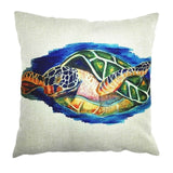 Cute&Lovely Cotton Linen Pillow Case Sea Pillow Case 18x18 inches Animal Turtle Waist Throw Pillow Cover - Awesome Amazing Deals For You
