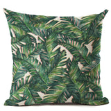 Hyha Plant Cushion Cover Tropic Tree Green Throw Pillow Cover Flamingo Bird Decorative Pillows Flower Cushion Cover for Sofa Car - Awesome Amazing Deals For You