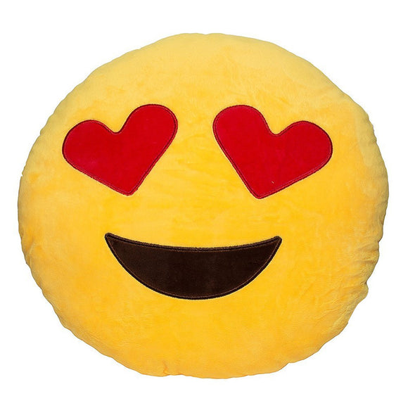Funny Cute emoji pillow plush pillow coussin cojines emoji gato Round Cushion emoticono smiley Pillow Stuffed Plush almofada Hot - Awesome Amazing Deals For You