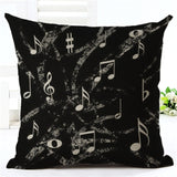 Music Series Note  Printed High Qulity Cotton Linen Decorative Cushion Cover Pillow Case Car Seat 45*45cm Pillowcase - Awesome Amazing Deals For You