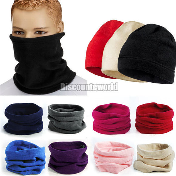 Hot New Unisex 3-in-1 Multipurpose Polar Fleece Snood Hat Women Men Neck Warmer Wear Scarf Beanie Balaclava 9 Color F1