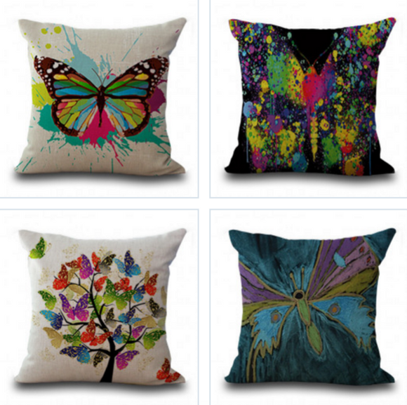 Abstract Print Pillow Cases