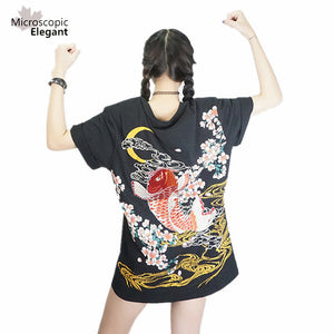 punk funk rock t-shirt harajuku 2017 Japan YOKOSUKA embroidery dragon and koi baseball uniform unisex fashion vintage shirt - Awesome Amazing Deals For You
