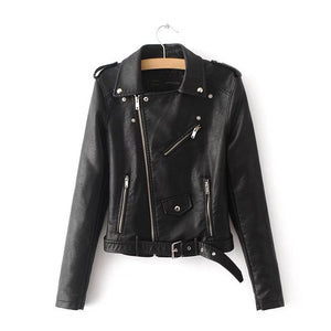 PU Leather Jacket Zipper - Awesome Amazing Deals For You