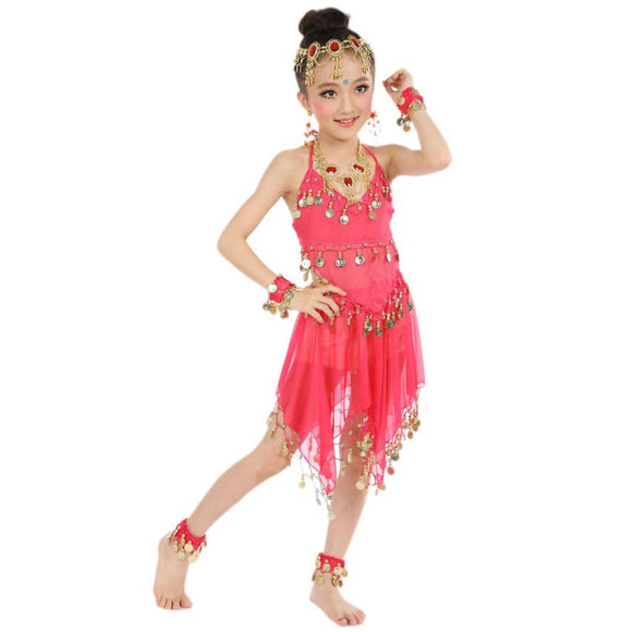 Popular Handmade Kids Girls Belly Dance Costumes Kids Belly India Dance Children's clothes set