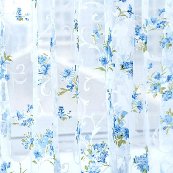 Super Deal  Lattice Tulle Door Window Curtain Drape Panel Sheer Scarf Valances XT - Awesome Amazing Deals For You