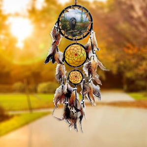 dream catcher decor hanging Hanging Decoration Dreamcatcher Net with Feathers India Style Hourse Decoration