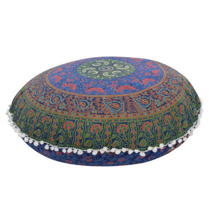 Indian Large Mandala Floor Pillows Round Bohemian Cover velvet pillow cover - Awesome Amazing Deals For You