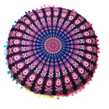 Hot Sale Indian Mandala Floor Pillows Round Bohemian Pillows Cover Case - Awesome Amazing Deals For You