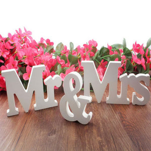 Wedding decorations 3 pcs/set Mr & Mrs romantic mariage decor Birthday Party Decorations Pure White letters wedding sign - Awesome Amazing Deals For You