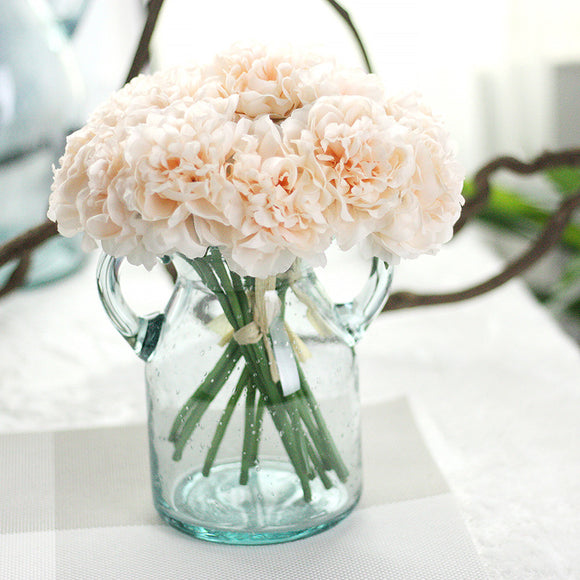 1 Bouquet 5 Head Wedding Artificial Hydrangea Flower Home Wedding Party Birthday Floral Decor