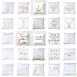 Floral Letter Animal Printed Pillow Case Sofa Car Waist Cushion Cover Home Decor