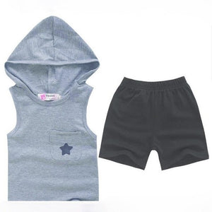 Summer Kids Clothes Sets Tops+Pants Five-star Cotton Toddler Baby Boys Tracksuit Outfits All for Kids Clothing and Accessories