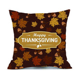 Turkey Pumpkin Thanksgivig cushion case pillowcover Retro linen Festival ornament fall Maple leaf pillow cover slips Happy - Awesome Amazing Deals For You