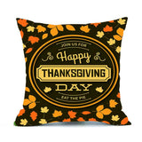 Happy Thanksgiving Day cushion case Festival ornament Pumpkin Turkey pillow cover slips Vintage Fall Harvest pillowcase cushion - Awesome Amazing Deals For You