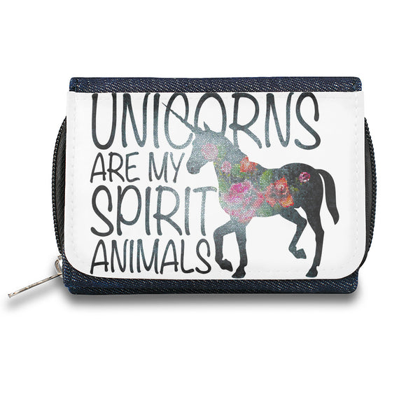 Unicorns Are My Spirit Animals  Zipper Wallet| The Stylish Pouch To Keep Everything Organized