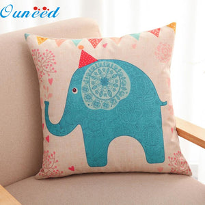 Elephant Throw Home Decorative Cushion Pillow Cover