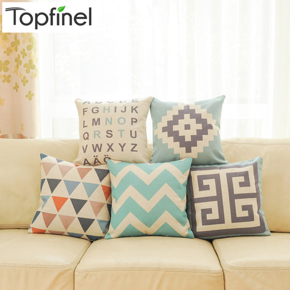 Top Finel 2016 Geometric Decorative throw Pillow case Linen Cotton Cushion Cover Creative decoration for Sofa Car covers 45X45cm - Awesome Amazing Deals For You