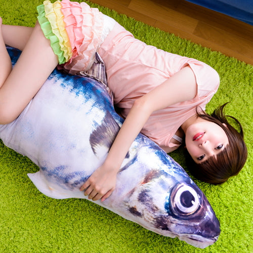 Huge Mackerel Cushion Bag