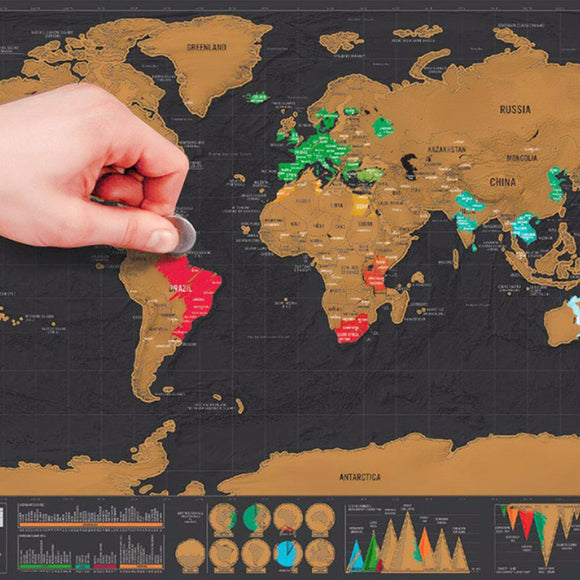 Scratchable World Map (Luxury Edition)