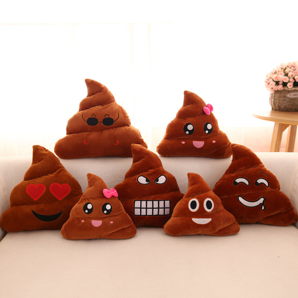 Kawaii Poop Shaped Emoji Cushion