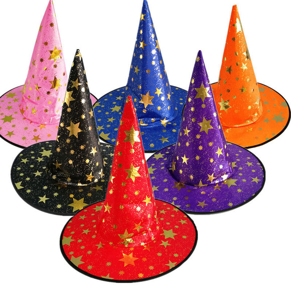 Glitter Stars Witch Hat