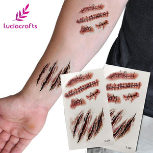 Horrible Scars Makeup Sticker
