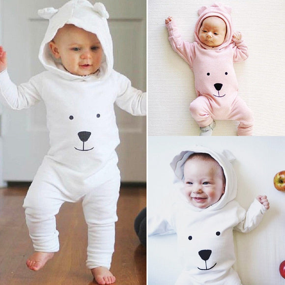 Baby Bear Hooded Jumpsuit