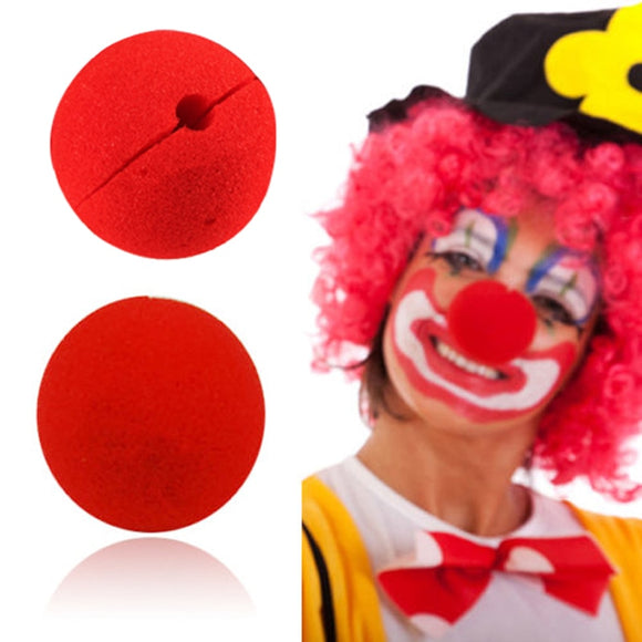Red Ball Sponge Clown Nose (10 pieces)
