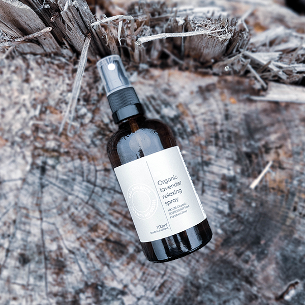 E4 - Organic lavender relaxing spray.