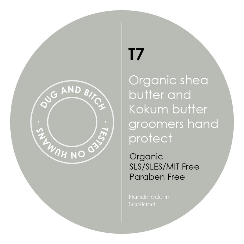 T7 - Organic shea butter and Kokum butter groomers hand protect.