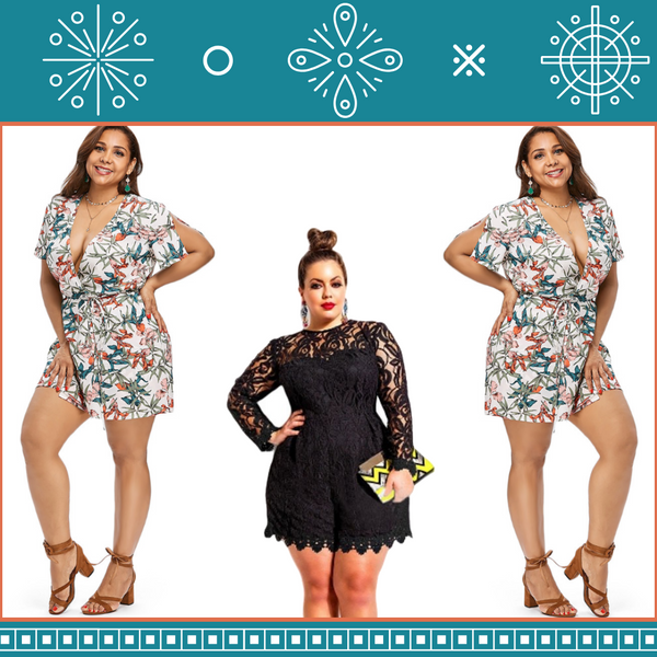 Women's Fashion Designer Plus Size Rompers, Jumpsuits & Shorts