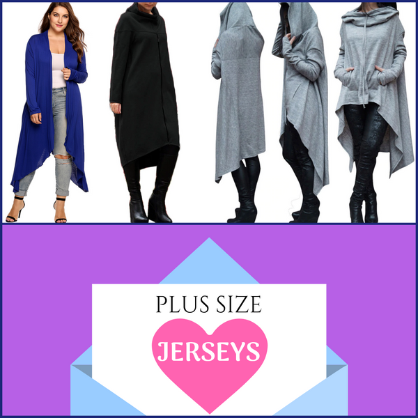 Women's Fashion Designer Jerseys and Cardigans (Plus Size)