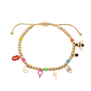 """Girl Power"" Charm Bracelet"