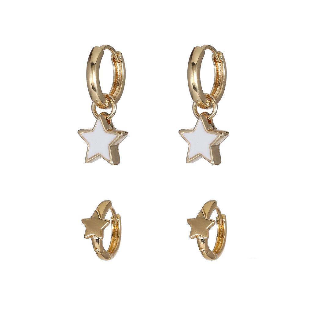 Stars on Ice Hoop Earring Set