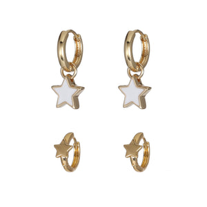 Stars  Hoop Earring Set