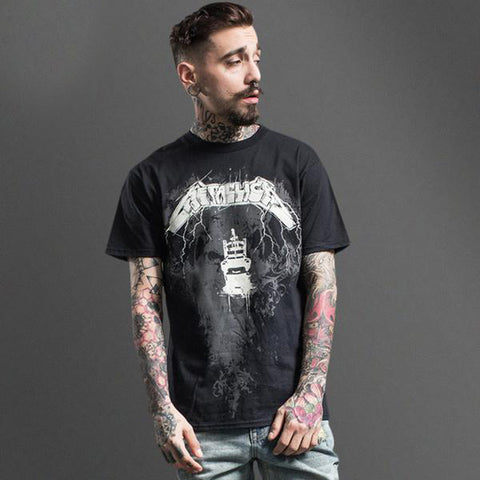 Black Metallica Lightning Tee