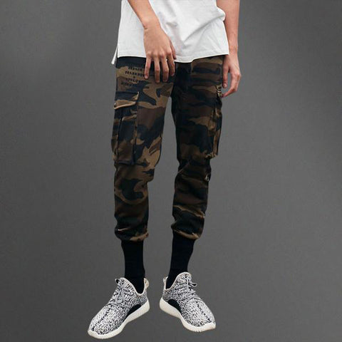Camo Multi-pocket Cargo Pants
